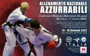 Allenamento Azzurri, dal 14 al 16 Gennaio 2022, S. Daniele del Friuli